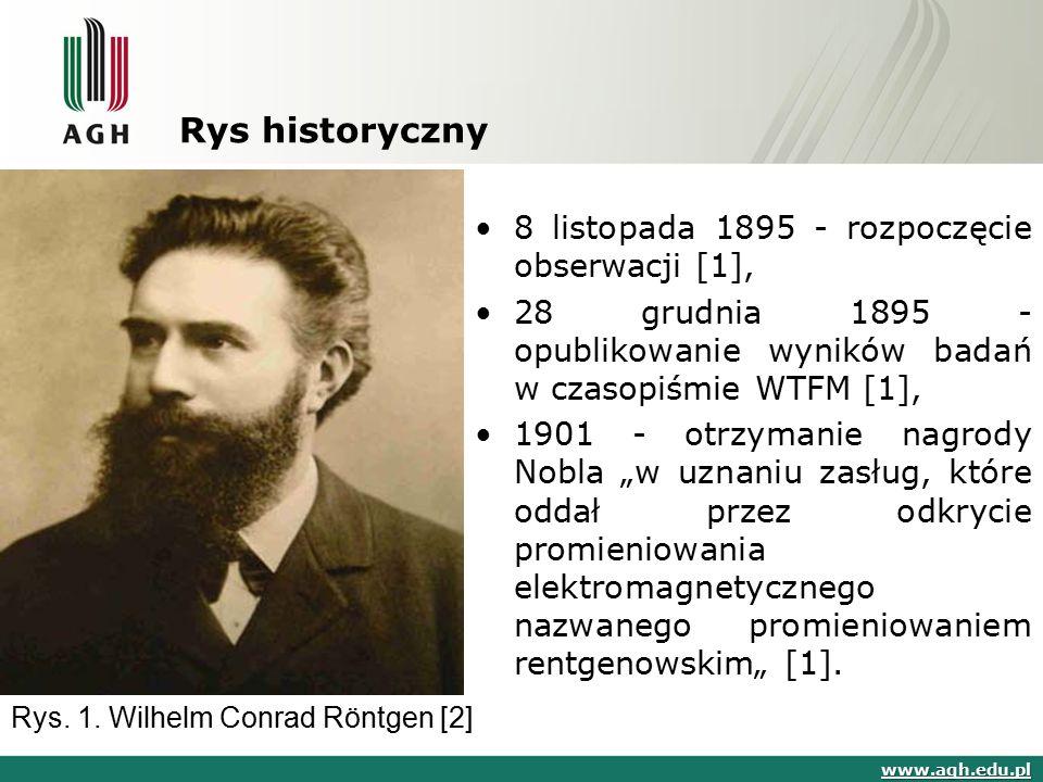 Rys historyczny 8 listopada 1895 - rozpoczęcie obserwacji [1],
